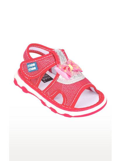 Mee Mee First Walk Baby Sandel with Chu Chu Sound (Red)