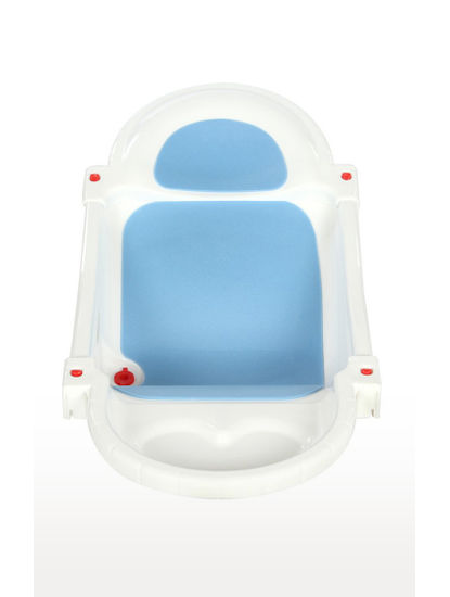 White and Blue Spacious Comfy Baby Bathing Tub