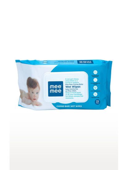 Mee Mee Caring Baby Wet Wipes with Aloe Vera (72 pcs/Pack)