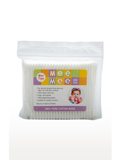 Mee Mee Baby Cotton Buds (White)