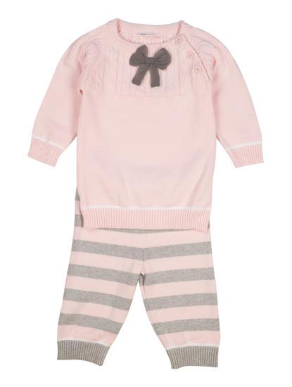 Mee Mee Full Sleeve Girls Legging Set (Pink_Grey)