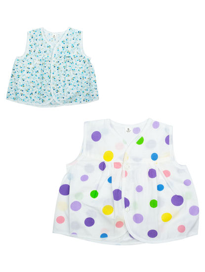 Mee Mee Cotton Sleeveless Jabla Frock Pack Of 2