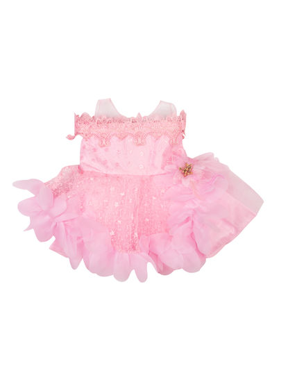 Mee Mee Girls Sleeveless Party Frock (Pink)