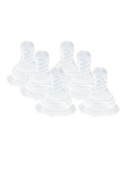 Mee Mee Anti-Colic Easy Flo Silicone Teat (Large, Pack of 3)