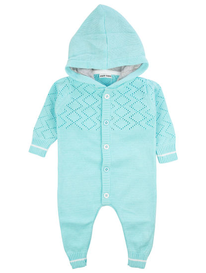 Mee Mee Full Sleeve Girls Romper (Light Blue)
