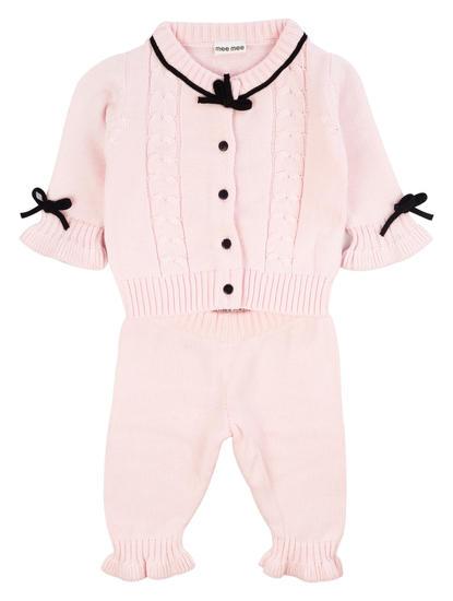 Mee Mee Full Sleeve Girls Legging Set (Pink)