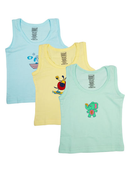 Mee Mee Boys Vests, Pastel (Pack Of 3)