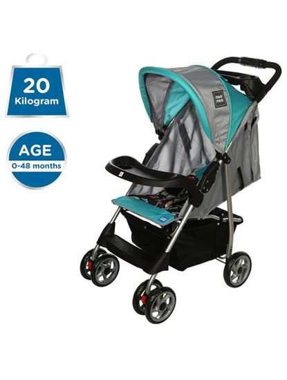 Mee Mee Compact Folding Baby Pram with Multiple Seating Position (Black)
