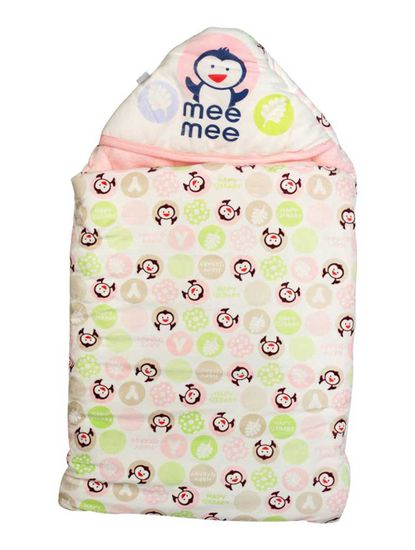 Mee Mee Baby 3-in-1 Multi Usage Bed Cum Sleeping Bag Carry Nest – (Pink)
