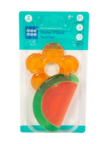 Mee Mee Multi-Textured Water Filled Teether (Pack of 2)