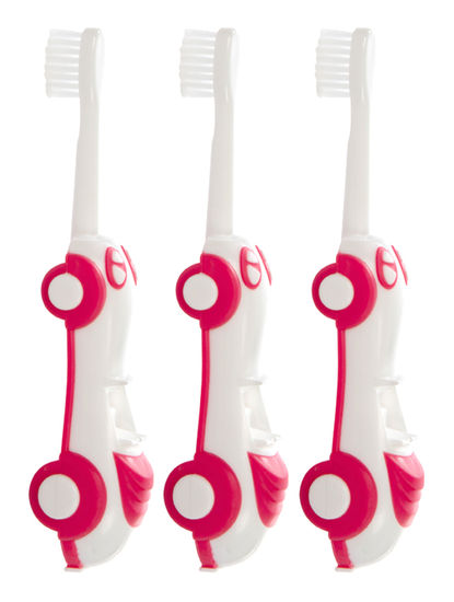 Mee Mee Foldable Infant to Toddler Toothbrush (Pink, Pack of 3)