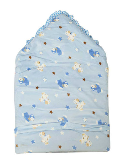 Mee Mee Cozy Cocoon Baby Wrapper with Hood (Blue)
