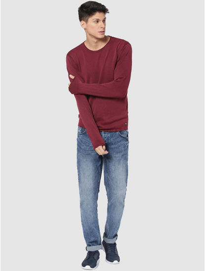 Red Washed Pullover
