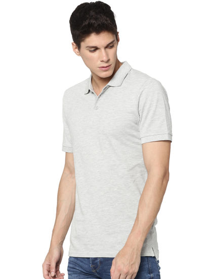 Light Grey Polo Neck T-shirt