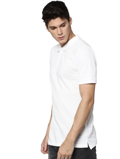 White Polo Neck T-shirt