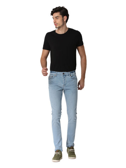 Light Blue Loom Slim Fit Jeans