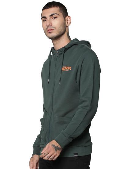Dark Green Hooded Sweatshirt