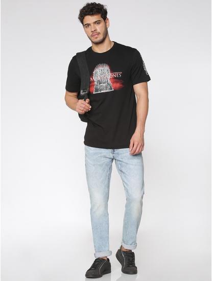 Light Blue Faded Slim Fit Jeans