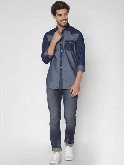 Blue Denim Full Sleeves Shirt