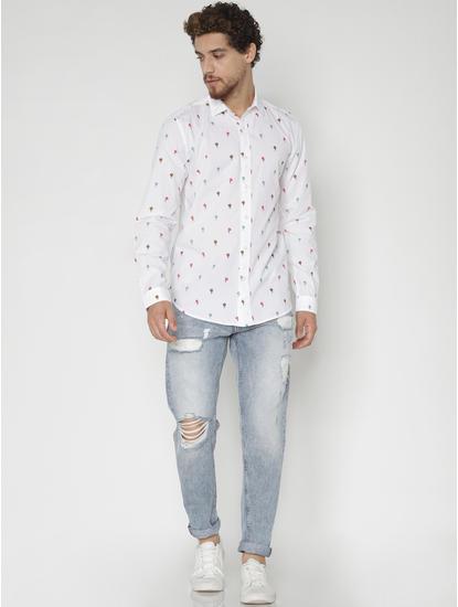 Light Blue Ripped Regular Fit Jeans