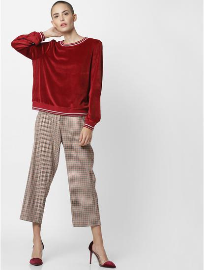 Maroon Velvet Sweatshirt