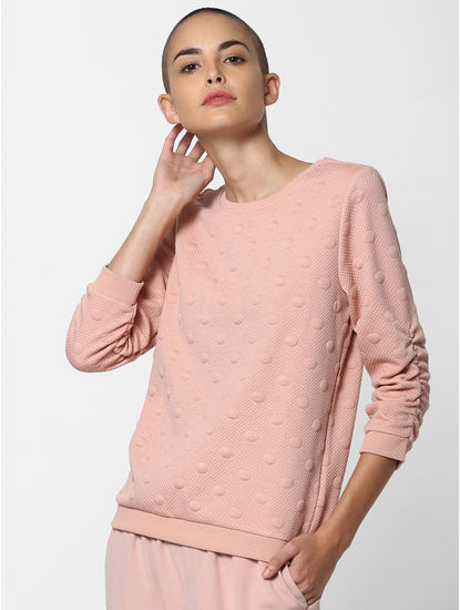 Pink Dotted Sweatshirt
