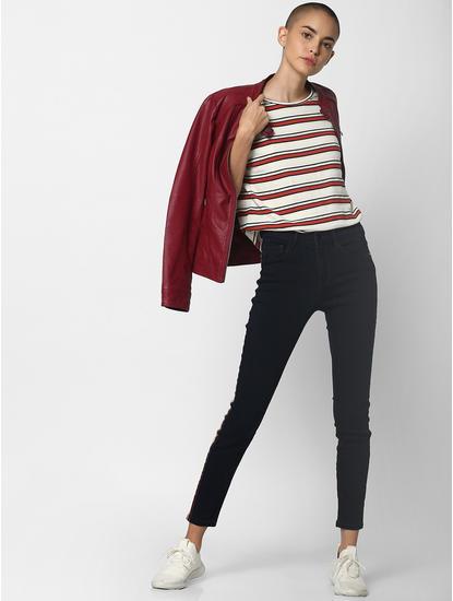 Off White Striped T-Shirt