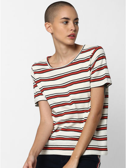 Off White Striped T-Shirt