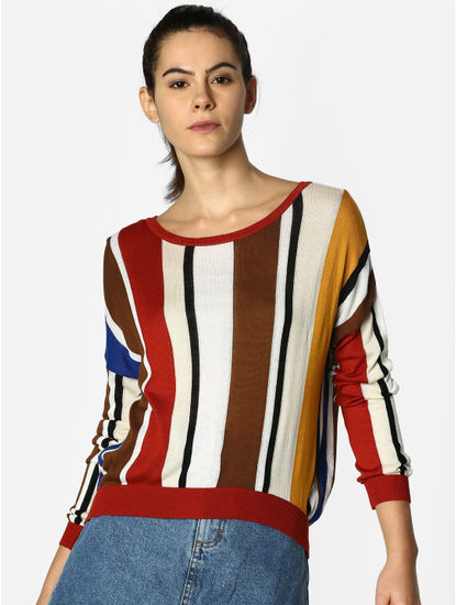 Multi-Coloured Striped Pullover