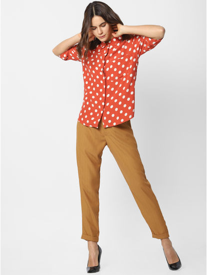 Red Polka Dot Print Shirt