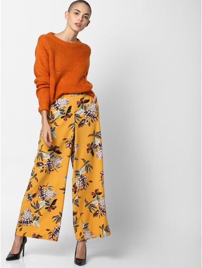 Orange Textured Pullover