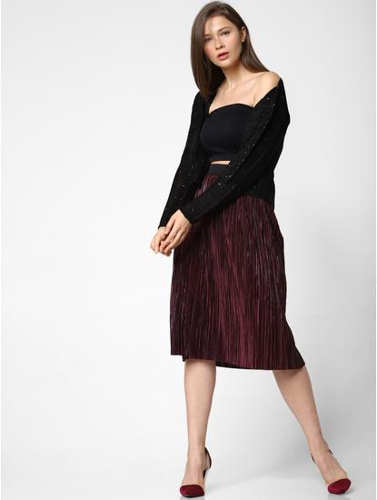 Black Sequin Embellished Cardigan