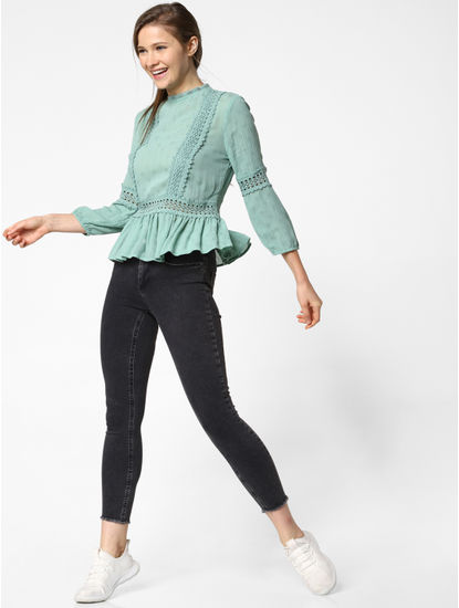 Green Lace Insert Top