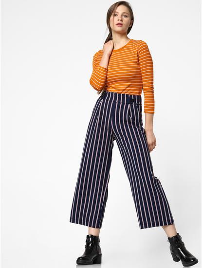 Orange Striped T-shirt