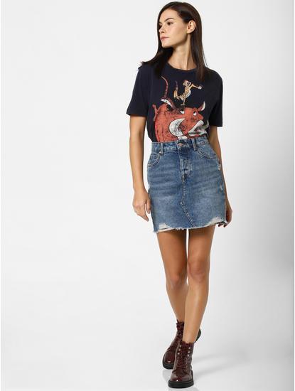 Navy Blue Timon & Pumbaa T-shirt