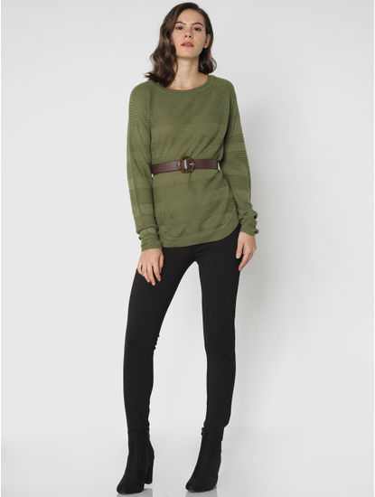 Green Loose Fit Pullover
