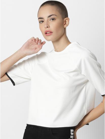 x Tokidoki White Bow Tie Textured Top