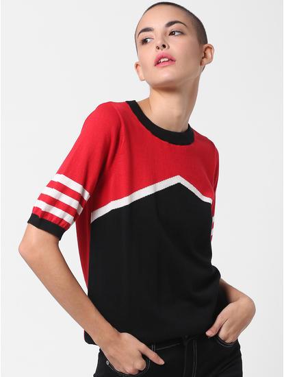 X Tokidoki Red Colourblocked Pullover