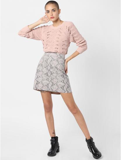 Low Rise Printed Skirt