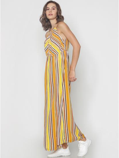 Yellow Striped Maxi Dress