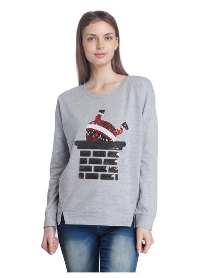 Solid Casual Sweatshirt