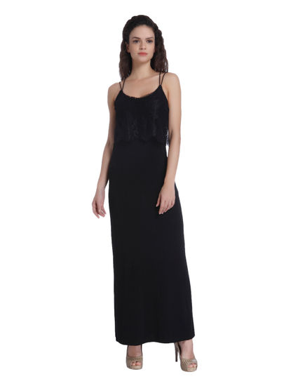 Solid Party Maxi Dress