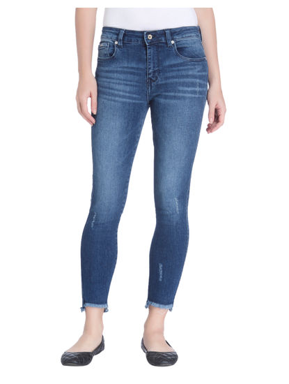 Dark Blue Super Low Skinny Fit Jeans