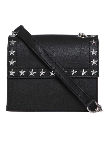 Black Star Studded Crossbody Bag