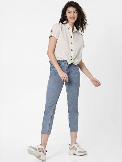 Off-White Front-Tie Up Shirt