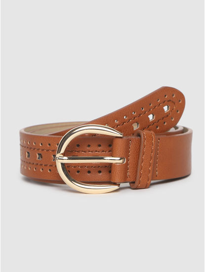 Brown Perforated Belt