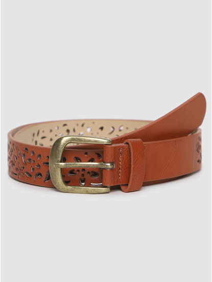 Brown Cut Work Belt