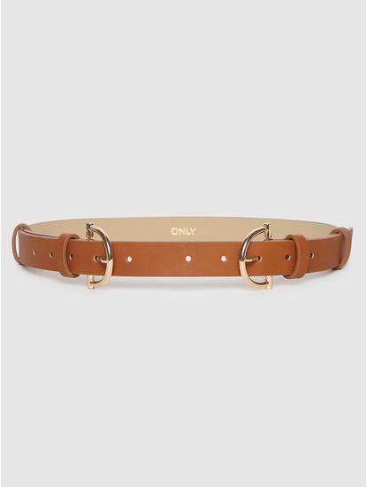 Brown Twin Buckle Waist Belt