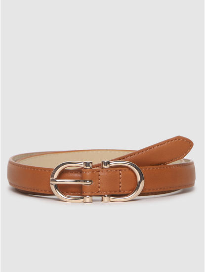 Brown Golden Buckle Belt