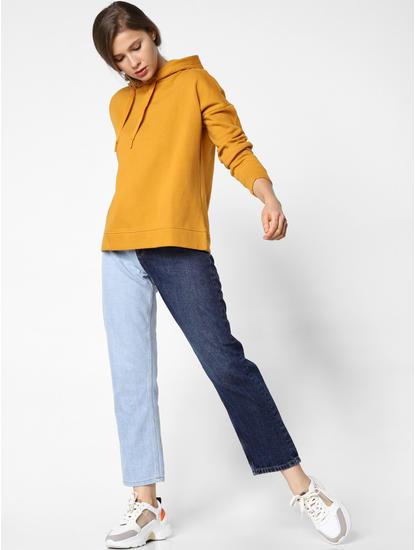Dark Yellow Hooded Sweatshirt